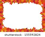 bright autumn leaves frame... | Shutterstock . vector #155592824