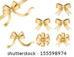 ribbon gold vector  | Shutterstock .eps vector #155598974
