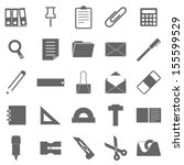 stationary icons on white... | Shutterstock .eps vector #155599529