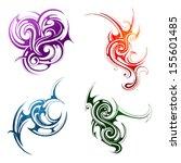 design elements. fire  water ...   Shutterstock .eps vector #155601485