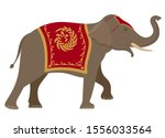 elephant. vector illustration...   Shutterstock .eps vector #1556033564