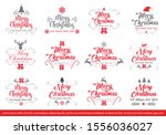 set of merry christmas and... | Shutterstock .eps vector #1556036027