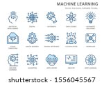 machine learning icons  such as ... | Shutterstock .eps vector #1556045567