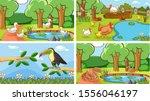 background scenes of animals in ... | Shutterstock .eps vector #1556046197