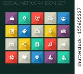 trend social network icons with ...