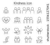 kindness  charity  donation... | Shutterstock .eps vector #1556127041