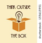 think outside the box   Shutterstock .eps vector #155615951