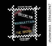 brooklyn typography graphic...   Shutterstock .eps vector #1556161967