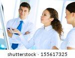 business consultant discussing... | Shutterstock . vector #155617325