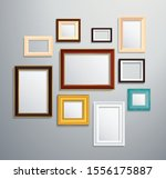 isolated picture frame on wall... | Shutterstock .eps vector #1556175887