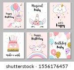happy birthday greeting card... | Shutterstock .eps vector #1556176457