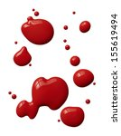 Splattered Red Paint Isolated...