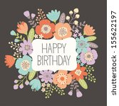 Birthday Floral Card