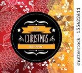 poster merry christmas... | Shutterstock .eps vector #155622611