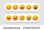 emoticons set. emoji faces... | Shutterstock .eps vector #1556226521