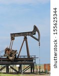 operating oil and gas well... | Shutterstock . vector #155625344