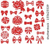 vector set of present bows | Shutterstock .eps vector #155625539