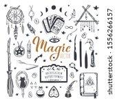 witchcraft  magic background... | Shutterstock .eps vector #1556266157