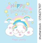 birthday invitation with...   Shutterstock .eps vector #1556271707