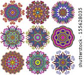 circle lace ornament  round... | Shutterstock . vector #155628035