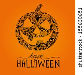 happy halloween vector jack o... | Shutterstock .eps vector #155630651