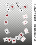 casino playing cards on... | Shutterstock .eps vector #1556329847