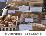 selection of bread for sale on... | Shutterstock . vector #155633045