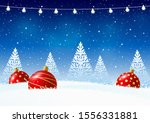 greeting card with christmas... | Shutterstock .eps vector #1556331881