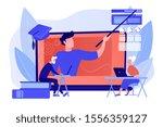 webinar  internet lesson....   Shutterstock .eps vector #1556359127