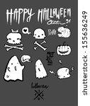 halloween elements  | Shutterstock .eps vector #155636249