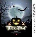 halloween trick or treat... | Shutterstock .eps vector #155636474