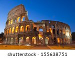 rome's mighty coliseum  ad 80   ... | Shutterstock . vector #155638751