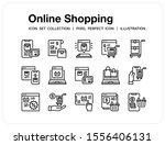 online shopping icons set. ui...