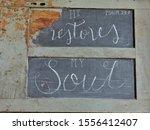 Chalkboard Verse Psalm  23 3 On ...