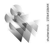 speed lines in arrow form .... | Shutterstock .eps vector #1556418644