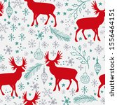 winter seamless pattern with... | Shutterstock .eps vector #1556464151