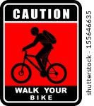 walk your bike | Shutterstock .eps vector #155646635