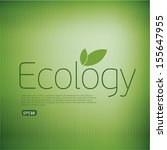 ecologic icon background.think... | Shutterstock .eps vector #155647955