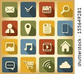 various applications icon set... | Shutterstock .eps vector #155649281