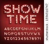 show time alphabet font.... | Shutterstock .eps vector #1556510747