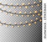 set of glowing christmas lights.... | Shutterstock .eps vector #1556536664