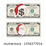 design of 100 dollars with... | Shutterstock .eps vector #1556577014