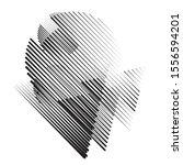speed lines in arrow form .... | Shutterstock .eps vector #1556594201