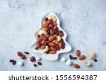 Dried Fruit And Nuts On Fir...