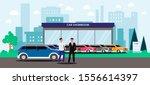 car showroom   cartoon man...   Shutterstock .eps vector #1556614397