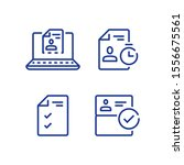 submit document online  distant ... | Shutterstock .eps vector #1556675561