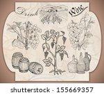 hand drawn label vineyards | Shutterstock . vector #155669357