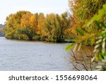 Autumn Landscape. Autumn River...