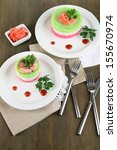 colored rice on plates on... | Shutterstock . vector #155670974