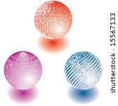 decoration balls  vector    Shutterstock .eps vector #15567133